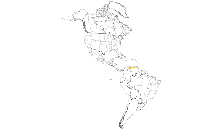 Range Map (Americas): Red Siskin