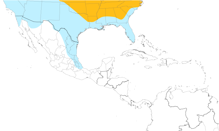 Range Map (Central): American Goldfinch