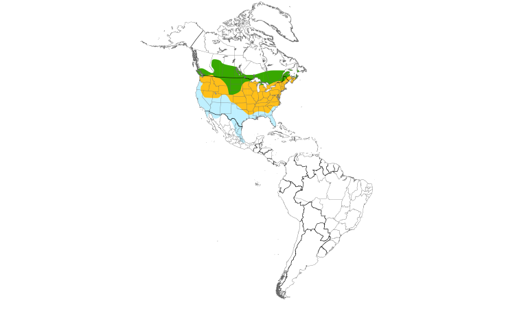 Range Map (Americas): American Goldfinch