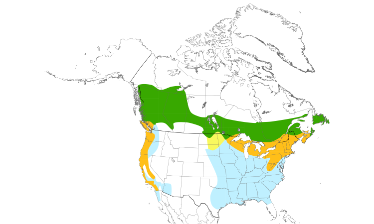 Range Map (North): Purple Finch