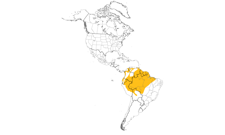 Range Map (Americas): Purple Honeycreeper
