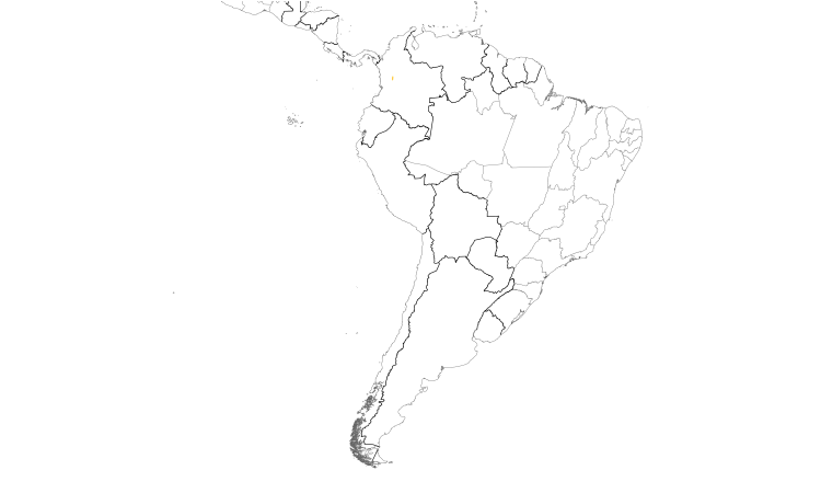 Range Map (South): Indigo-winged Parrot