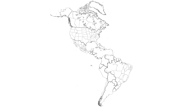 Range Map (Americas): Indigo-winged Parrot