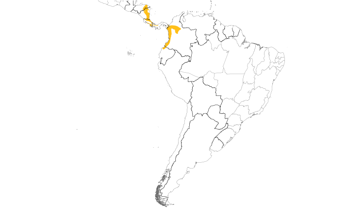 Range Map (South): Streak-chested Antpitta