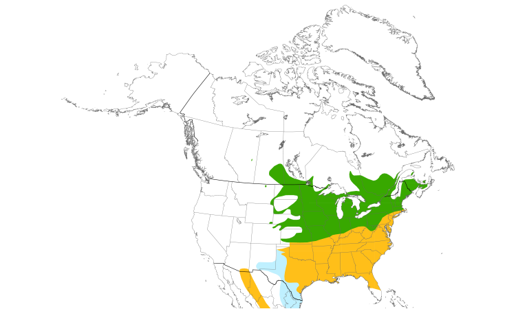 Range Map (North): Eastern Bluebird
