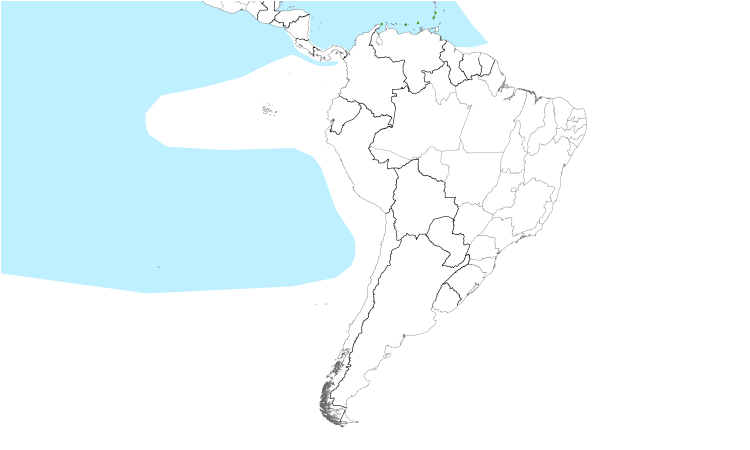 Range Map (South): Masked Booby