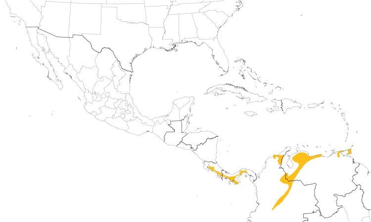 Range Map (Central): Rufous-breasted Wren