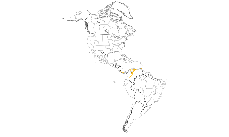 Range Map (Americas): Rufous-breasted Wren