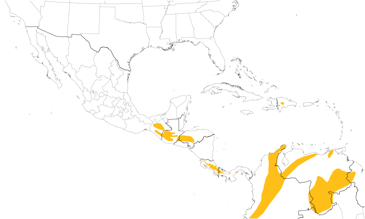 Range Map (Central): Rufous-collared Sparrow