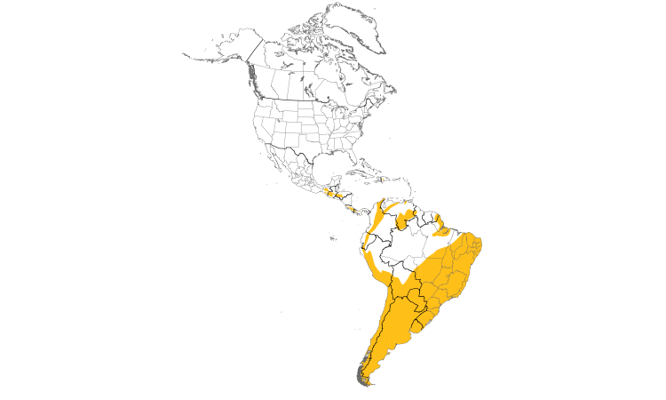 Range Map (Americas): Rufous-collared Sparrow